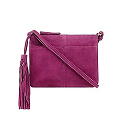 Butterfly by Matthew Williamson - Dark pink suede body bag