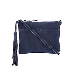 Butterfly by Matthew Williamson - Navy tasselled cross body bag