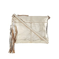 Butterfly by Matthew Williamson - Gold metallic tasselled cross body bag