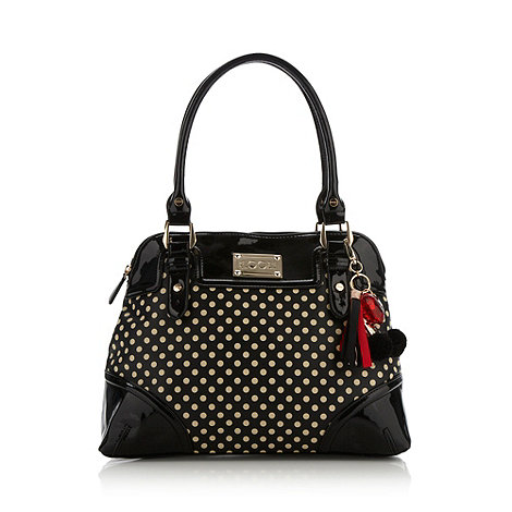 Floozie by Frost French - Black spotted shoulder bag