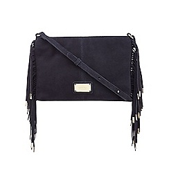 Butterfly by Matthew Williamson - Navy tasselled detail cross body bag