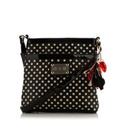 Black spotted cross body bag