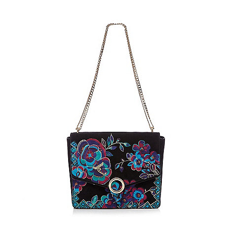 Butterfly by Matthew Williamson - Black floral cross body bag