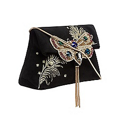 Butterfly by Matthew Williamson - Black embellished butterfly cross body bag