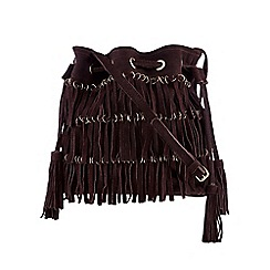 Nine by Savannah Miller - Purple fringed duffle bag