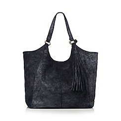 Nine by Savannah Miller - Navy metallic leather tote bag