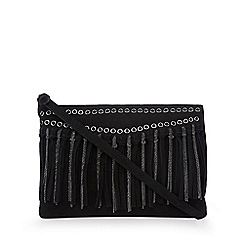 Nine by Savannah Miller - Black chain and fringe detail cross body bag