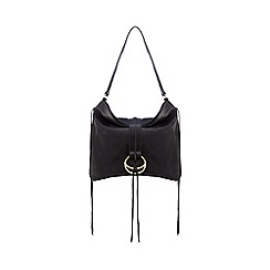 Nine by Savannah Miller - Black leather shoulder bag