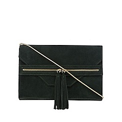 Nine by Savannah Miller - Dark green suede zip detail cross body bag