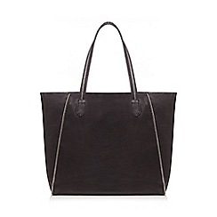 Nine by Savannah Miller - Black metallic lined leather shopper bag
