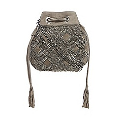Nine by Savannah Miller - Light grey embellished cross body bag