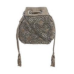 Nine by Savannah Miller - Light grey embellished cross body bag