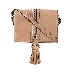 Nine by Savannah Miller - Taupe suede mini cross body bag
