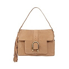 Nine by Savannah Miller - Tan buckle suede shoulder bag