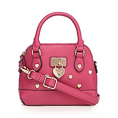 Floozie by Frost French - Dark pink heart studded mini dome bag