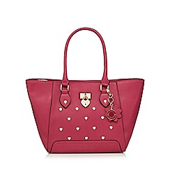 Floozie by Frost French - Dark pink heart studded winged grab bag