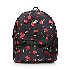 Floozie by Frost French - Black cherry print backpack