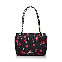 Floozie by Frost French - Black cherry print shoulder bag