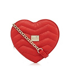 Floozie by Frost French - Red quilted heart cross body bag