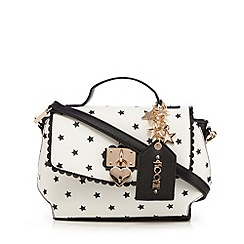 Floozie by Frost French - White star print cross body bag