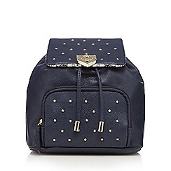 Floozie by Frost French - Navy star studded mini backpack