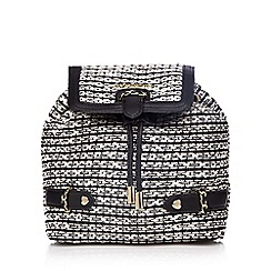 Floozie by Frost French - Black and white tweed mini backpack