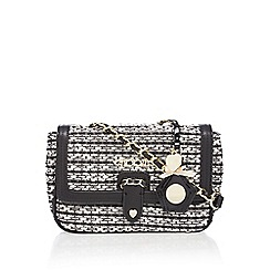Floozie by Frost French - Black and white textured tweed cross body bag
