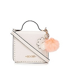 Floozie by Frost French - Pale pink cut-out trim pom pom charm grab bag