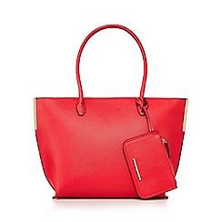 Red Herring - Red metal bar tote bag