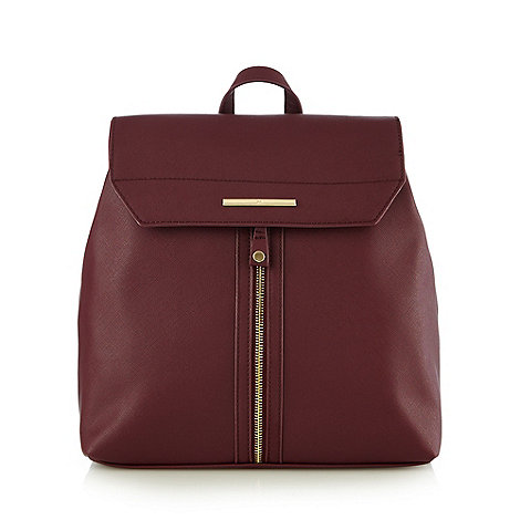 Red Herring - Dark red zip backpack
