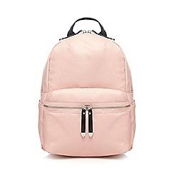 Red Herring - Pink zip backpack