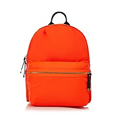 Red Herring - Orange zip through backpack