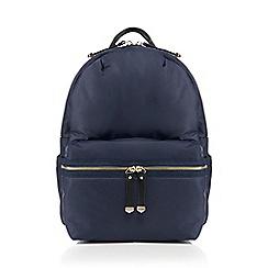 Red Herring - Navy zip detail backpack