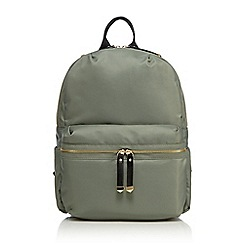 Red Herring - Khaki zip detail backpack