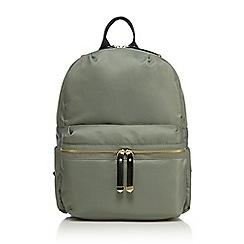 Red Herring - Khaki zip detail backpack