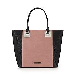 Red Herring - Dark pink snakeskin-effect tote bag