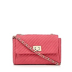 Red Herring - Pink quilted chain cross body bag