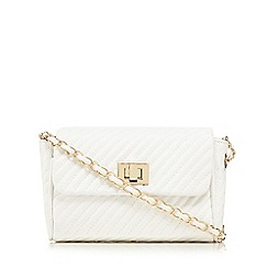 Red Herring - White quilted chain cross body bag