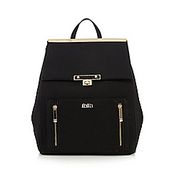 Faith - Black zip detail backpack