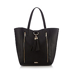 Faith - Black tassel charm tote bag