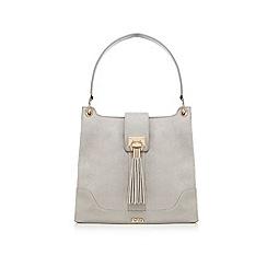 Faith - Grey tasselled shoulder bag