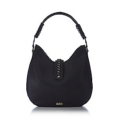 Faith - Black chain whipstitch shoulder bag