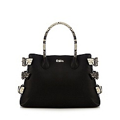 Faith - Black snakeskin-effect grab bag