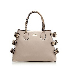 Faith - Pale pink snakeskin-effect grab bag