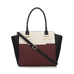 Call It Spring - Dark red 'Agraliviel' colour block tote bag
