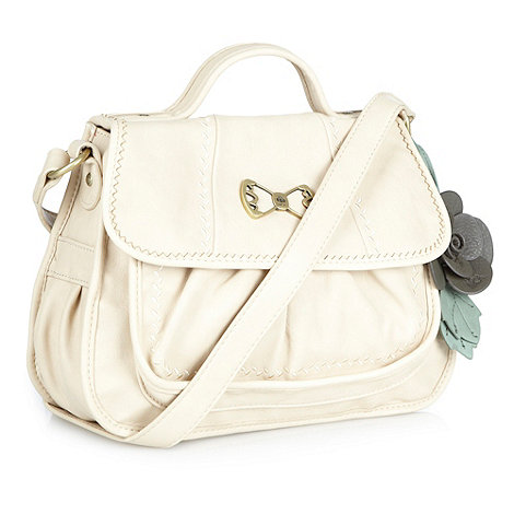 Nica - Cream large cross body bag