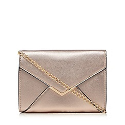 Call It Spring - Rose gold 'Pancake' clutch bag