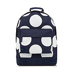 Mi-Pac - Navy all-over polka dot print 'Classic' backpack