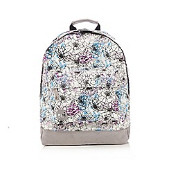 Mi-Pac - Cream all-over floral print 'Classic' backpack