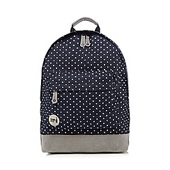 Mi-Pac - Blue denim spot print 'Classic' backpack